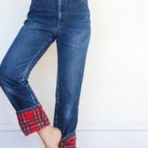 L.L. Bean Double L Flannel Lined Jeans